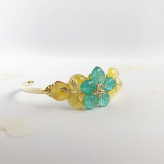 Flower jewellery Real flower Bracelet 18KGP
