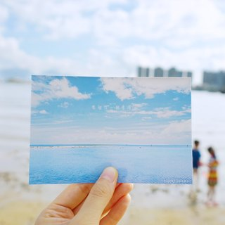 Wanna be with you by the seaside-postcard