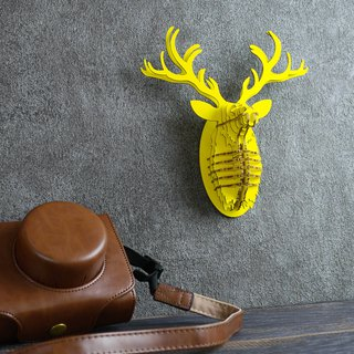 Deer Head / 3D Craft Gift /yellow