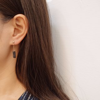 Irregular small double ring - Drapery [ear clip] earrings (pair)