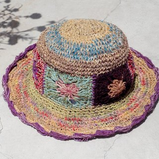 Valentine's Day gift limited to a hand-woven cotton / cotton hat / hat / fisherman hat / straw hat / sun hat / hook hat - romantic forest wind flower weaving