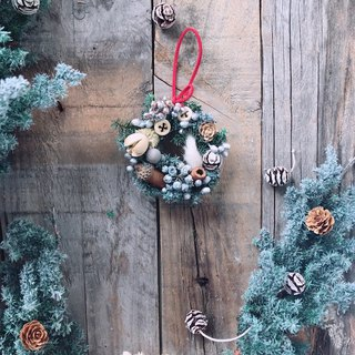 Snow does not wither small wreath Christmas incense brick / Christmas gifts / home decorations / gifts / dry flowers