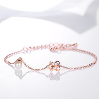 Waiting for 925 Silver Pearl Rose Bracelet