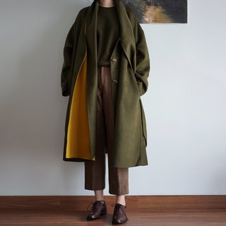Picklesgreen double-faced cashmere coat