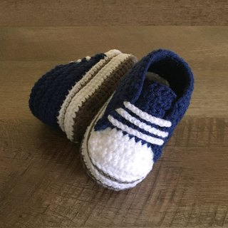 Sporty Toddler Sneaker Stylish Toddler Shoes Blue Crochet Baby Booties Footwear