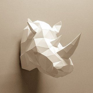 3D Paper Model _ rhino decorations _DIY Kits_ hand-made portfolio