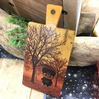 【Opera decorated autumn into the maple red - chopping board decoration