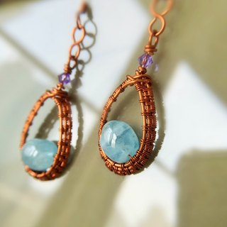 Sea Wizard Elisa Aquamarine Earrings