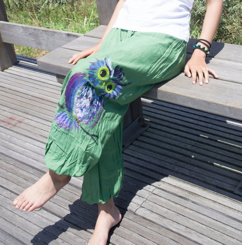 Hand-dyed Golden Owl Cotton Hemp Pants (Neutral / Men's Pants / Pants)