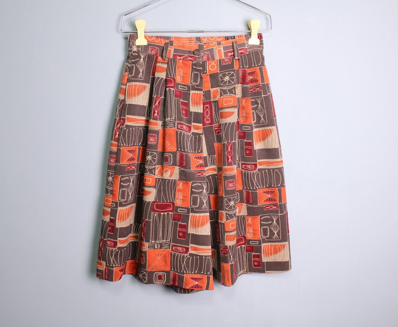 FOAK vintage mysterious hand-painted icon orange gray hakama