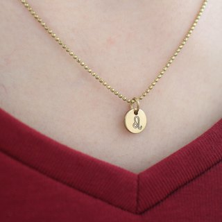 Horoscope sign-brass necklace-Leo