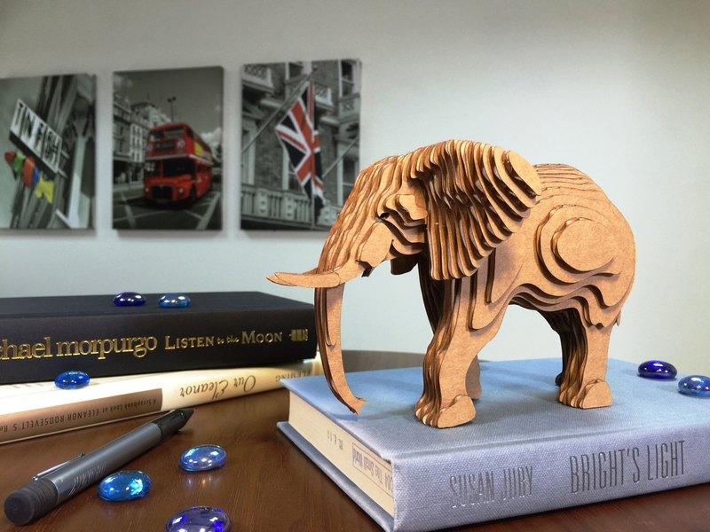 Contamo手作模型DIY材料包  野生動物系列-大象-大
