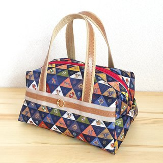 "Boston bag with Japanese Traditional pattern, Kimono ""brocade"""