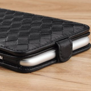 STORYLEATHER made (APPLE SAMSUNG HTC SONY LG) Style D4 PDA type cover braided leather case