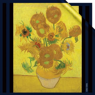 【Sunflowers】 Silk Scarf Wedding 】【Christmas Gift】【Birthday Gift】【Japanese Style】
