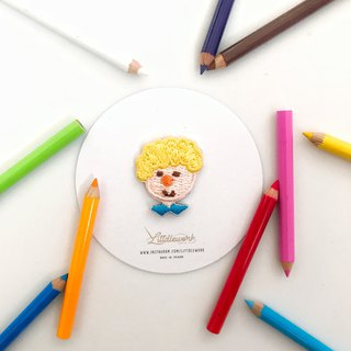 Littdlework Mini Embroidered Badge | Neckline Chapter | Little Boy