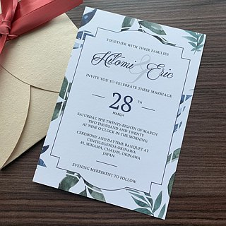 Bespoke florist wedding invitation cards  Personalised favours