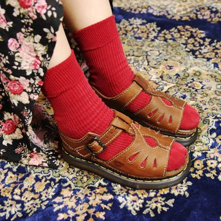 Tsubasa.Y Antique House A07 Brown Small Twist Martin Sandals, Dr.Martens England