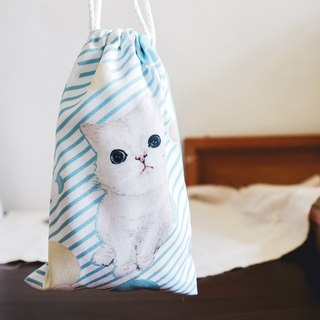 Drawstring bag - cat