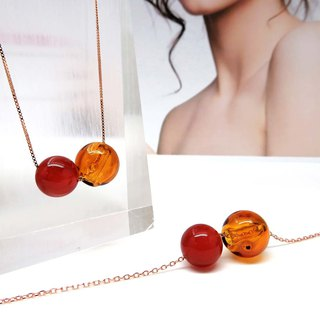 Red Onyx July Rose Gold S925 Diffuser Necklace Bracelet