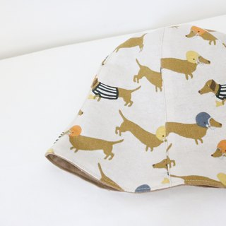 Spot - Dressing Dachshund Dog Handmade Double Side Hat Fisherman Hat