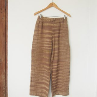 linnil: Autumn pants / hand woven fabric / natural dye