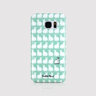 (Rabbit Mint) Mint Rabbit Phone Case - Little Rabbit Pattern Series - Samsung S7 edge (P00066)