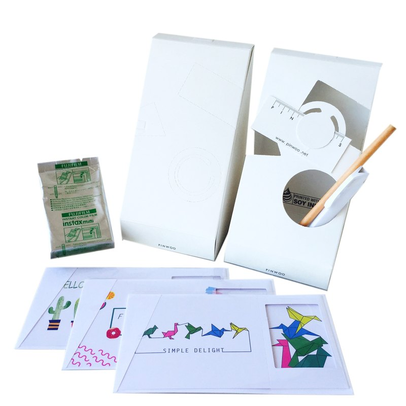 Pin Cards - Intimate Frame Card Kit Frame cards + film + paper pencil + pen container