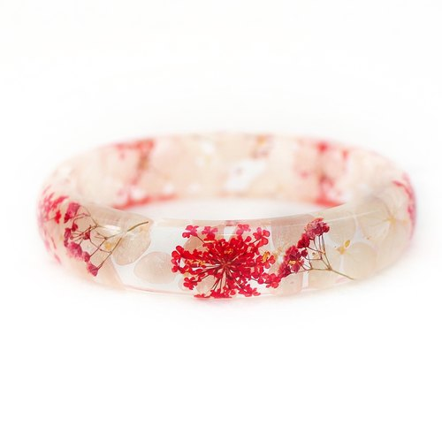 FlowerSays / Hydrangea Real Flower Bracelet / WhiteCollection / Eternal Flowers / Bracelet