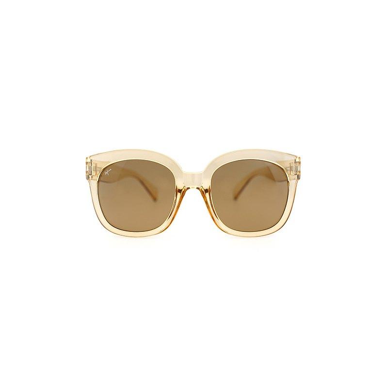 透膚款 方框墨鏡 Square sunglasses - yellow