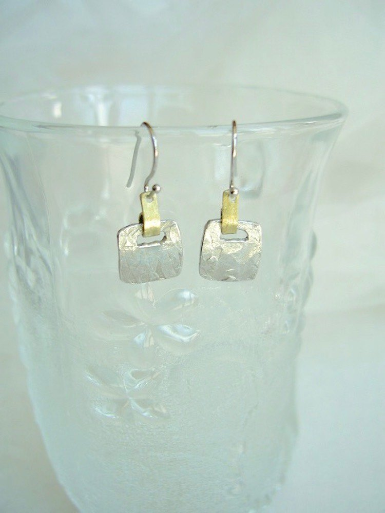 Tin Earrings / Square