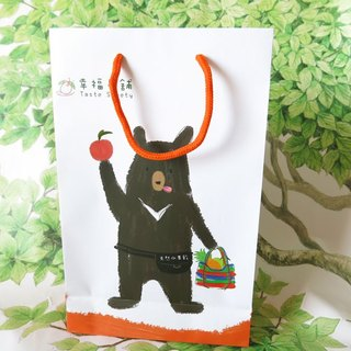 Happiness Fruit Shop - Gift Special Bag - Bear Boss - A2 White Orange