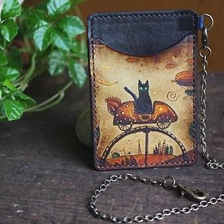 "Cat Pass Case S ""Midnight Carnival"" With Chain"