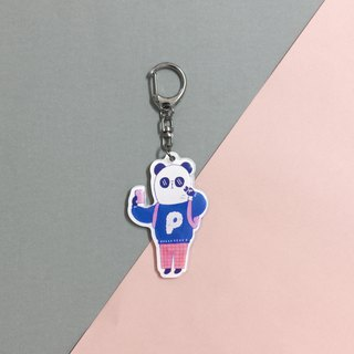 Epoxy D-type buckle charm - love self-portrait panda