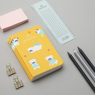 Pugs Mustard Pocket Notebook
