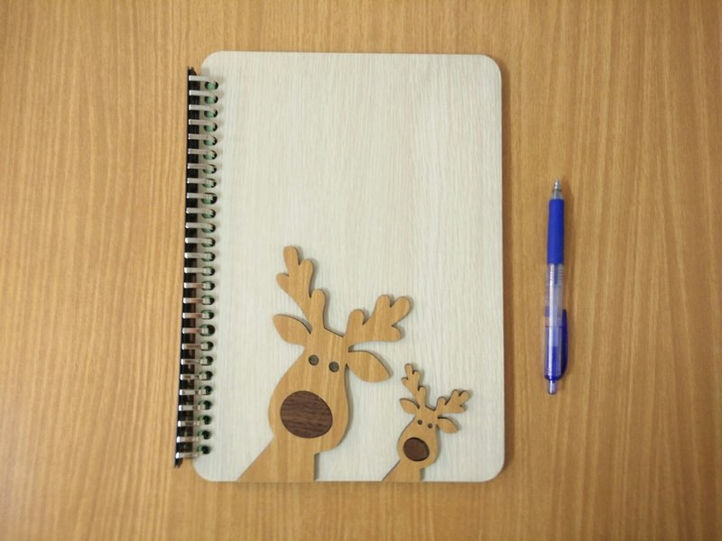 Taiwan stack [customization - color and pattern can be replaced] B5 two loose-leaf 26 hole notebook - elk notebook / album / stationery / folders / gifts / gifts