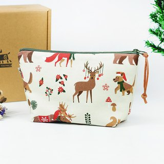 Maverick Village Storage Bag Cosmetic Bag Christmas Gift Xmas [Small Gift Christmas Ceremony - Elk Forest]