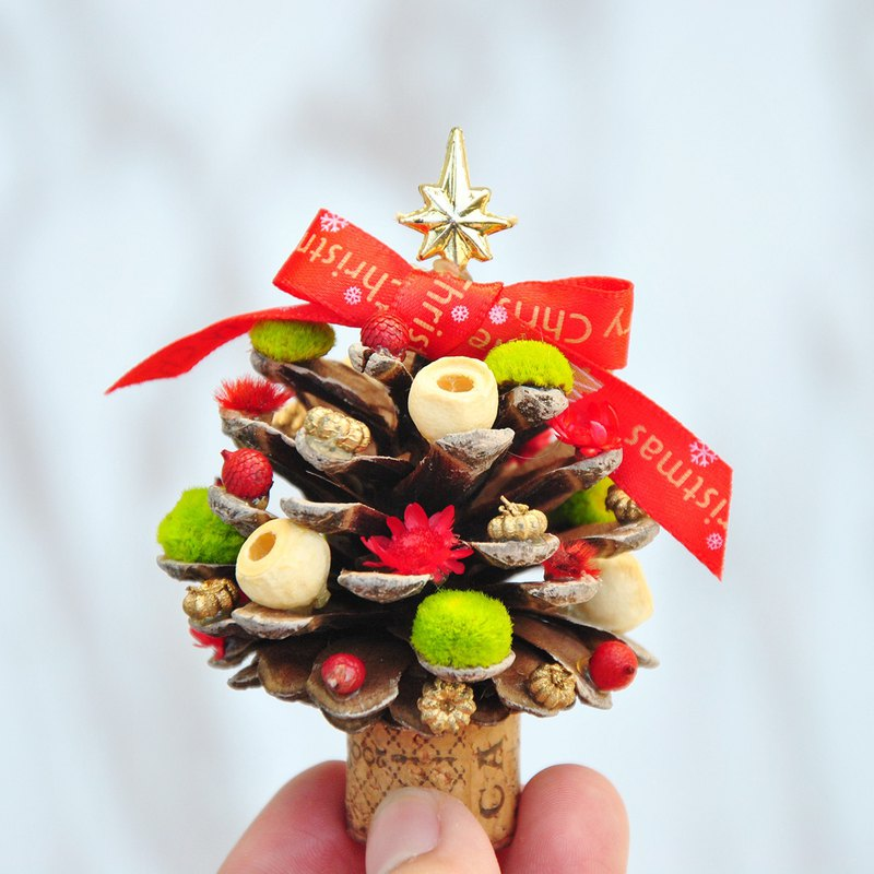 Mini Pinecone Christmas Tree-Ribbon with Christmas Wrap Christmas Gifts / Exchange Gifts