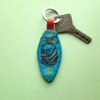 THE CREATURE / Handmade Embroidery Key Chain