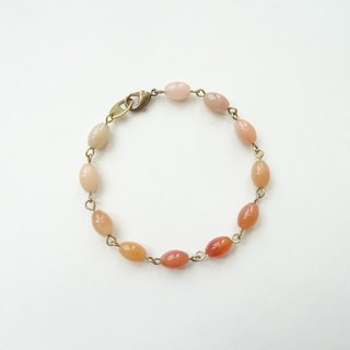 Simply Natural - Multi-Color Yellow Jade Brass Bracelet
