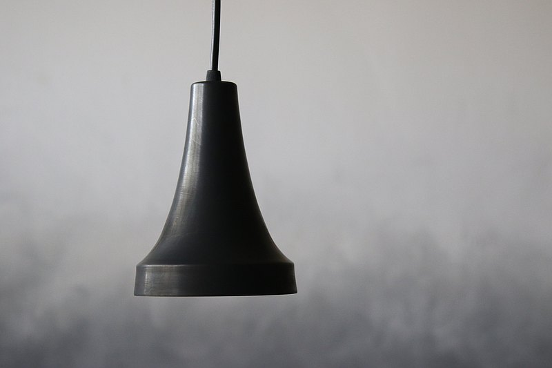 Brass lampshade #04 dyed black grindstone