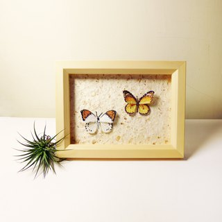 Embroidered butterfly wooden frame furniture / small butterfly two