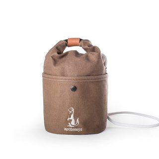 Arctomys EABA mini - waxed canvas bucket bag - Brown