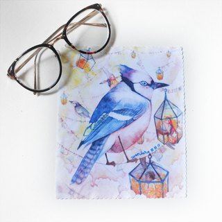 【Watercolor illustration superfine fiber glasses cloth】Freedom Bird