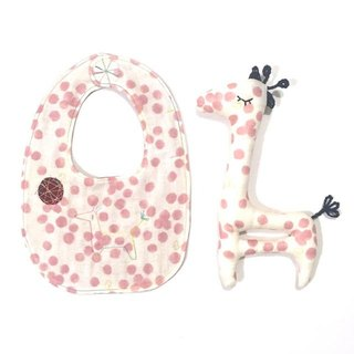 babygift  Bib&Doll of the giraffe rattle SET