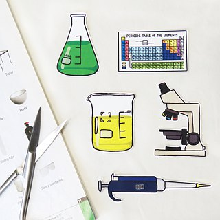 Lifelong Learning series: Laboratory Sticker (Big)