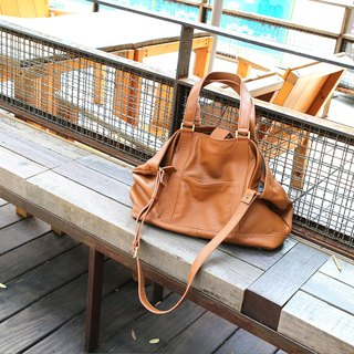 Passion handbag dark camel hand / shoulder / oblique back
