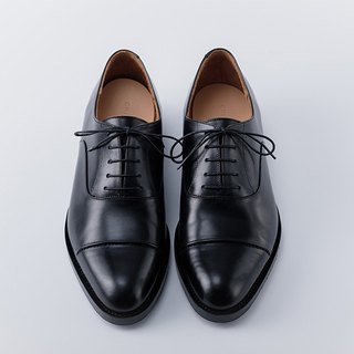 CYC hand-made shoes - 3CM OXFORD Oxford gentleman shoes black fetal cattle MTO custom single-line + rear chain