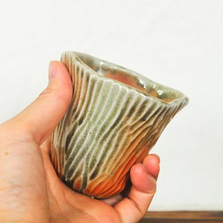 Wood fired pottery. Rock Mountain Cup Teacup 2