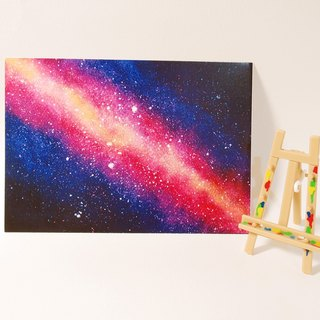 Quietly draw cool card / multi-purpose storage postcard / red Galaxy